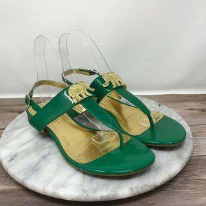 Talbots Lea Green Elephant Slingback Sandals 🌵